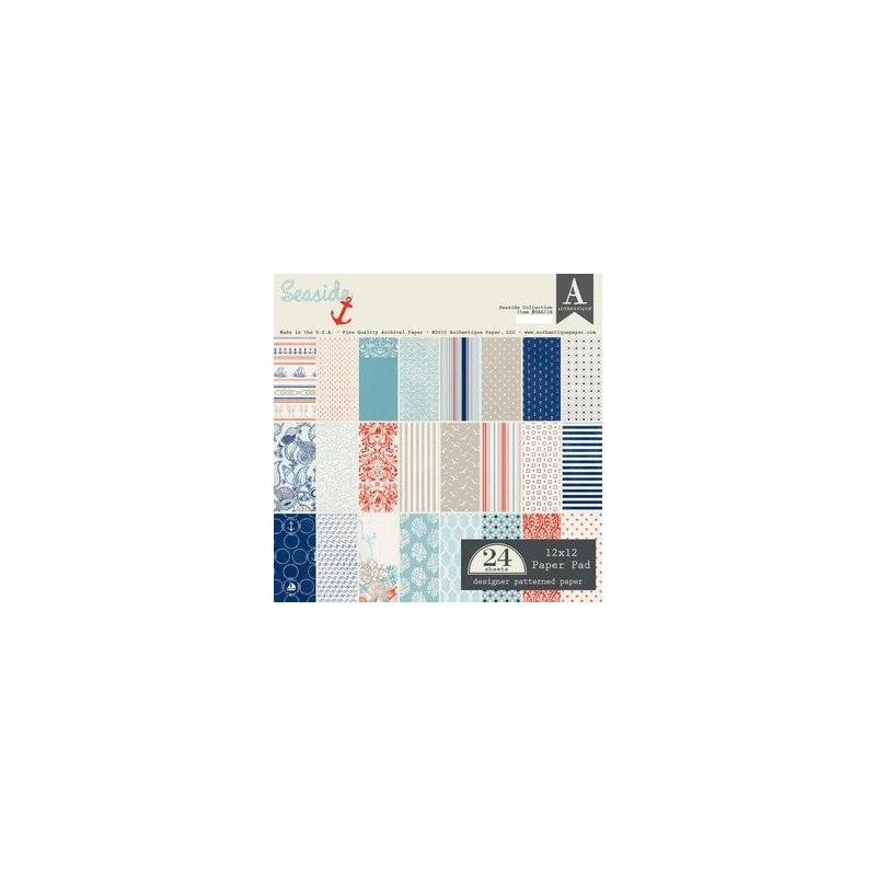 Set de papier 30x30 Seaside 24f - Authentique