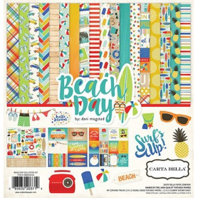 Set de papier 30x30 Beach Day 12f - Carta Bella kit