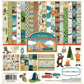 Set de papier 30x30 The great Outdoors 12f - Carta Bella kit