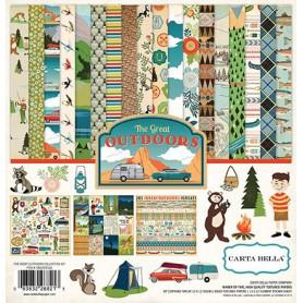 Set de papier 30x30 The great Outdoors 12f - Carta Bella kit