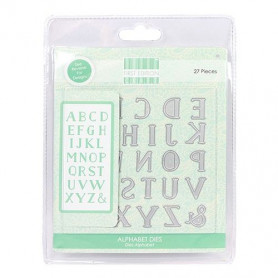 Dies Alphabet 27 pc - First Edition