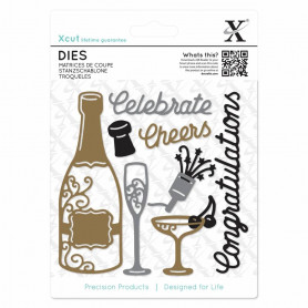 Dies Champagne Celebatrion 10 pc - Xcut