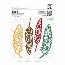 Dies Filigree Feathers 4 pc - Xcut