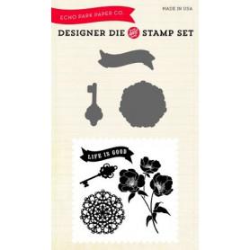 Die & stamp set Life is good - Echo Park