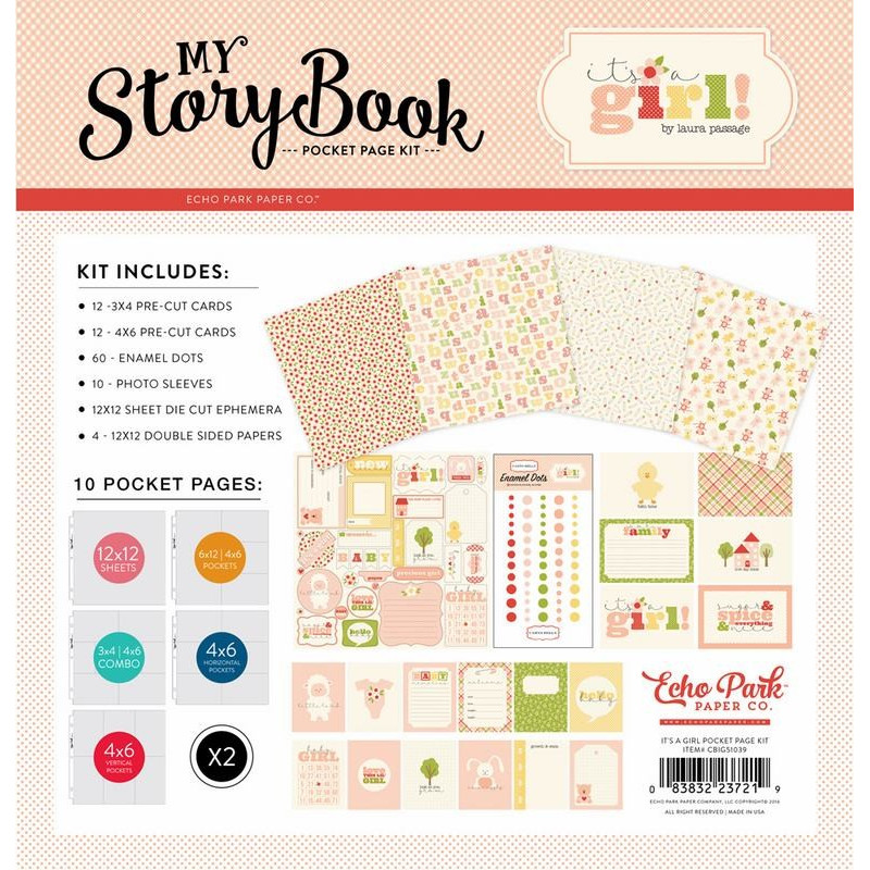 Kit scrapbooking It's a girl - My Story Book - Echo Park