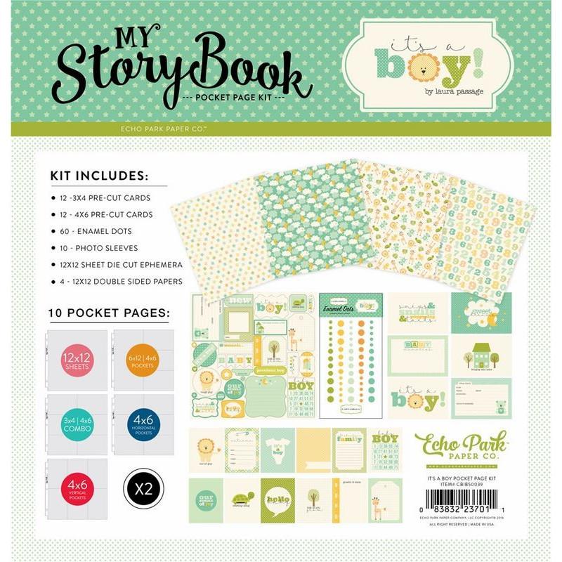 Kit scrapbooking It's a boy - My Story Book - Echo Park