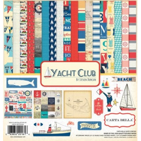 Set de papier 30x30 Yacht Club 12f - Carta Bella kit