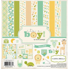 Set de papier 30x30 It's a boy 12f - Carta Bella kit