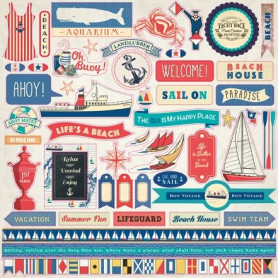 Stickers Yacht Club 30x30 - Carta Bella