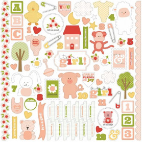 Stickers It's a girl 30x30 - Carta Bella