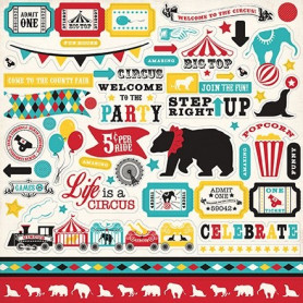 Stickers Circus Party 30x30 - Carta Bella