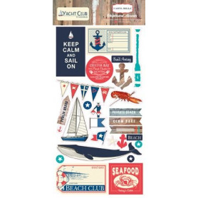 Chipboards Yacht Club 26pc - Carta Bella