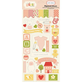 Chipboards It's a girl 45pc - Carta Bella