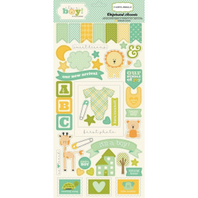 Chipboards It's a boy 45pc - Carta Bella