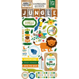 Chipboards Jungle Safari 43pc - Echo Park