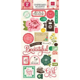 Chipboards Jack and Jill Girl 26pc - Echo Park
