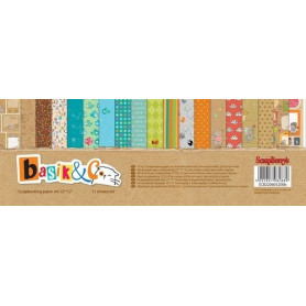 Set de papier 30x30 Basik & Co 11f – Scrapberry's