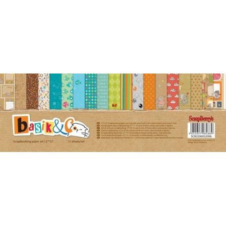 Set de papier 30x30 Basik & Co 11f – Scrapberry's