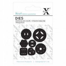 Dies Buttons 7pc - Xcut