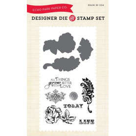 Die & stamp set Things Grow Better With Love - Echo Park