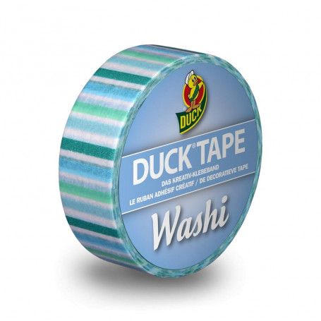 Washi Tape Blue Stripes 10m - Duck Tape