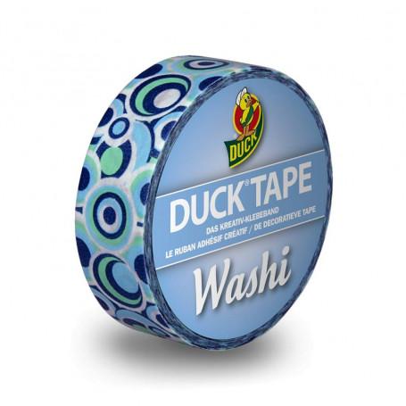 Washi Tape Retro Blue 10m - Duck Tape