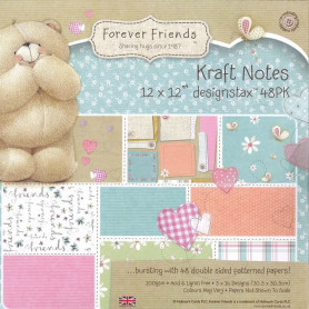 Set de papier 30x30 Kraft Notes 32f - Forever Friends