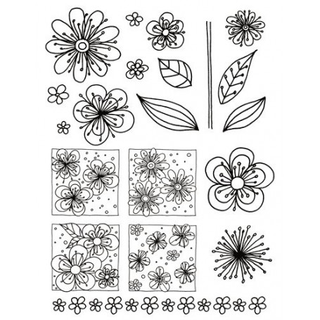Tampons Fleurs Artemio