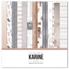Set de papier 30x30 Nomade 6f - Les ateliers de Karine