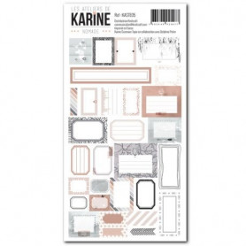 Stickers Etiquettes Nomade - Les ateliers de Karine
