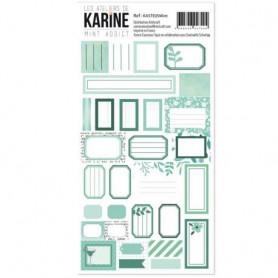 Stickers Etiquettes Mint - Les ateliers de Karine