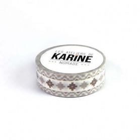 Masking Tape Ethnique 10 m Nomade - Les ateliers de Karine