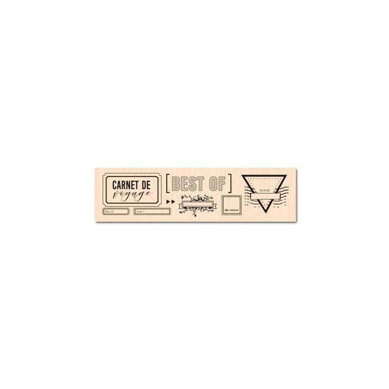 Tampon bois Mes étiquettes Voyage - Les ateliers de Karine