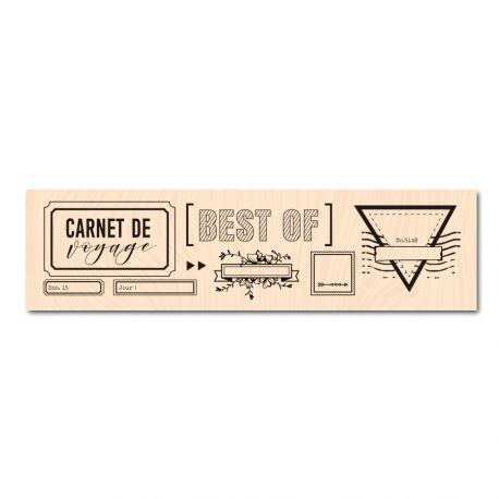 Populaire Tampon bois Mes étiquettes Voyage - Les ateliers de Karine - Manoé  YR76