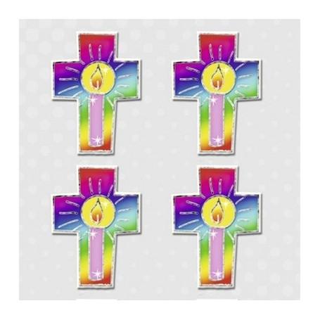 Embellissements 3D Croix avec bougie M270 - Inspiration - Ursus
