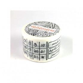 Masking Tape Calendrier permanent 10 m - Ephéméria