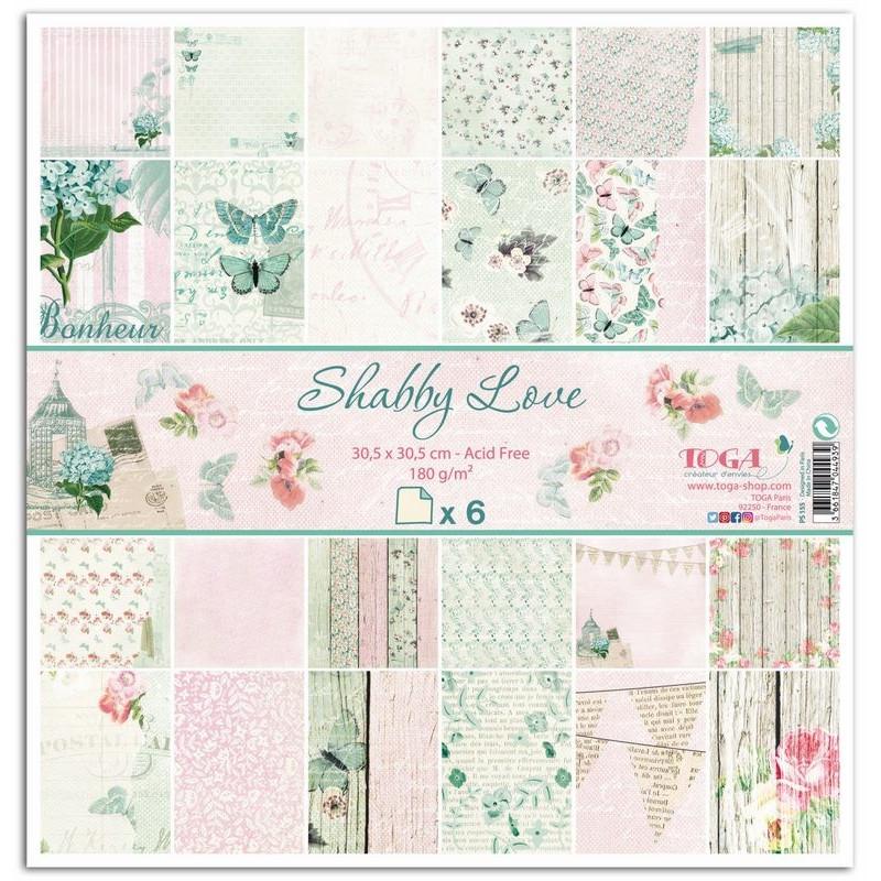 Set de papier 30x30 Shabby Love 6f - Toga