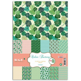 Set de papier A4 Jungle 48f - Color Factory Toga