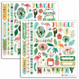Stickers Jungle 2 planches - Toga