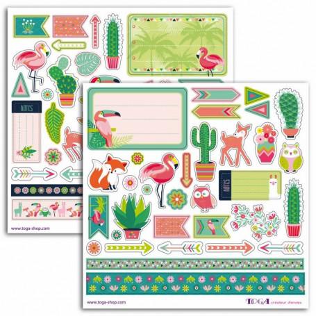 Stickers Zanimo 2 planches - Toga