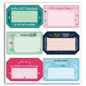 Stickers Etiquettes Messages positifs 6pc - Toga