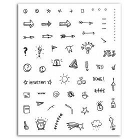 Tampons icônes Bullet Journal -Toga