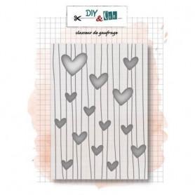 Classeur de gaufrage A6 Coeurs – Diy & Cie