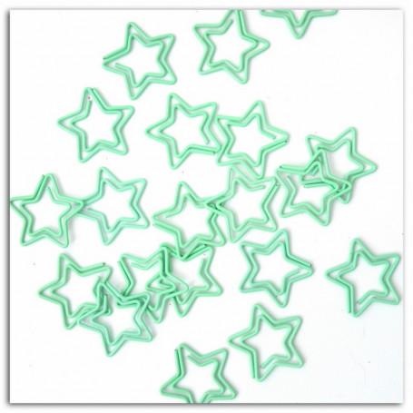 Trombones étoiles menthe 20 pc - Toga