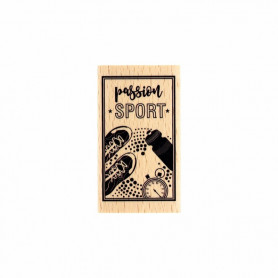Tampon bois Passion sport - Toujours dans le mouv' - Florilèges Design