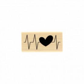 Tampon bois Coeur battant - Toujours dans le mouv' - Florilèges Design
