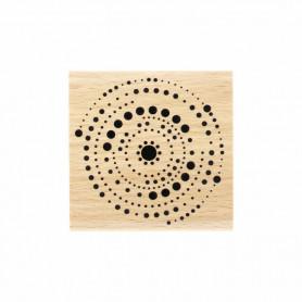 Tampon bois Cercles en points - Toujours dans le mouv' - Florilèges Design