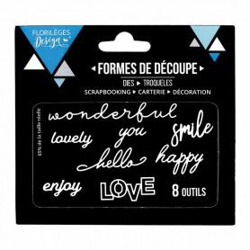 Dies Love 8pc - Florilèges Design
