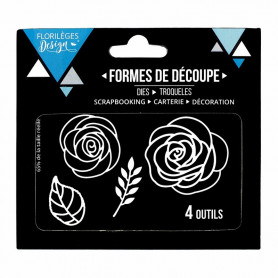 Dies Roses 4pc - Florilèges Design
