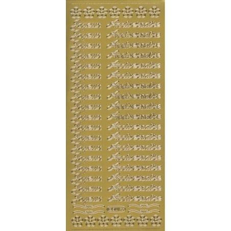 Starform Text Stickers 501 Joyeux Anniversaire Texte Auto-collants Peel offs